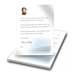 Scenic Mountains The Rockies Canada Thank You Letter