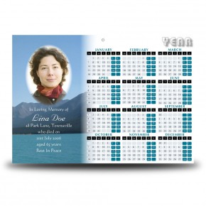 Scenic Mountains The Rockies Canada Calendar Single Page