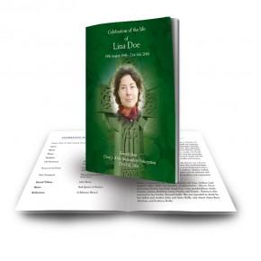 Irish Celtic Cross Funeral Book