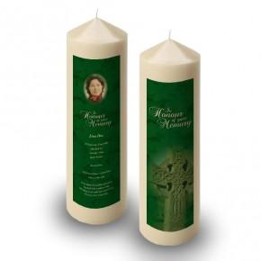 Irish Celtic Cross Candle