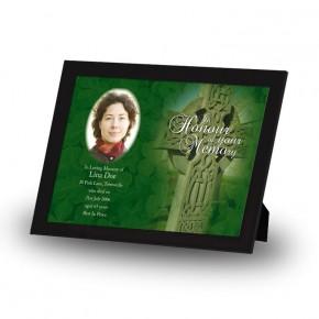 Irish Celtic Cross Framed Memory