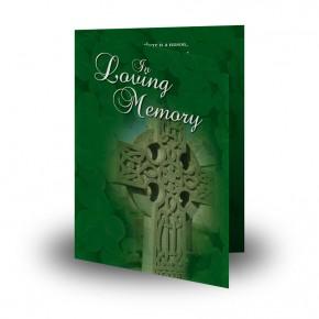 Irish Celtic Cross Folded Memorial Card