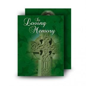 Irish Celtic Cross Standard Memorial Card