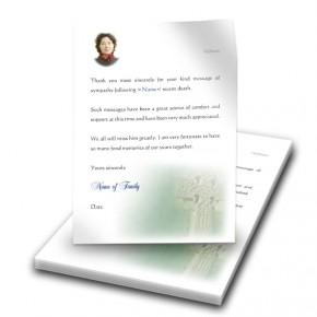 Irish Celtic Cross Thank You Letter