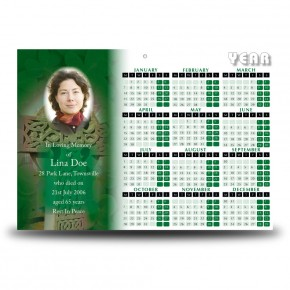 Irish Celtic Cross Calendar Single Page