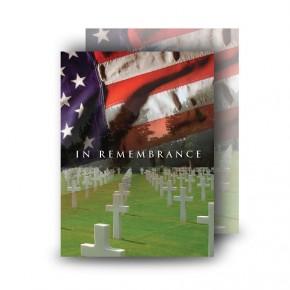 Remembrance Standard Memorial Card