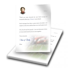 Remembrance Thank You Letter