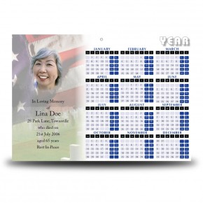 Remembrance Calendar Single Page