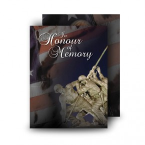 Freedom Standard Memorial Card