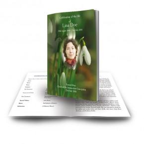 Snowdrops Funeral Book