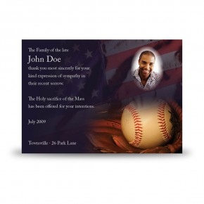 USA Baseball Acknowledgement Card