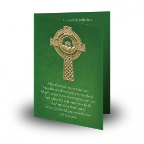 Irish Flag And Family Crest Folded Memorial Card