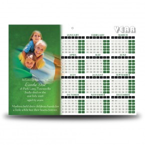 Irish Flag And Family Crest Calendar Single Page