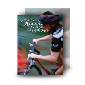 Mountain Biking Standard Memorial Card