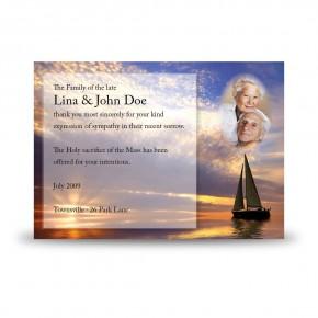 Sunset Sailing Acknowledgement Card