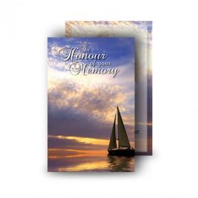 Sunset Sailing Wallet Card