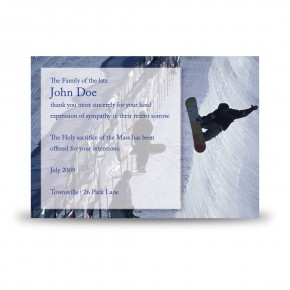 Snowboarding Acknowledgement Card