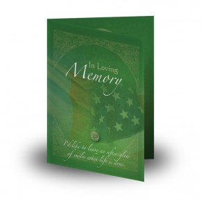 Irish American Flag Folded Memorial Card