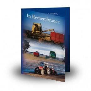 Farming No 1 Folded Memorial Card