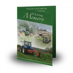 Farming No 2 Folded Memorial Card