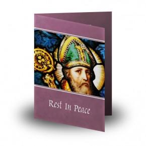 Saint Patrick No 1 Folded Memorial Card