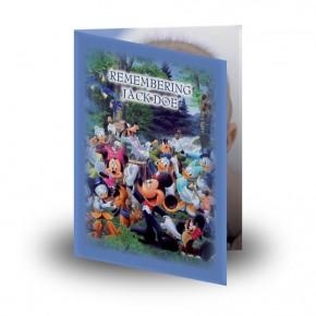 Disney Child Boy Folded Memorial Card