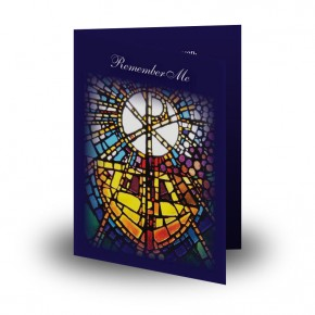 Stained Glass The Eucharist Folded Memorial Card