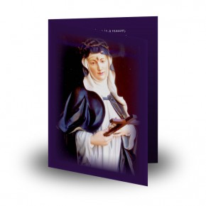 St Rita Folded Memorial Card