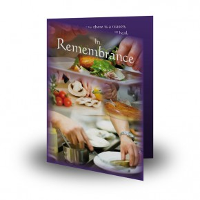 Cookery Folded Memorial Card