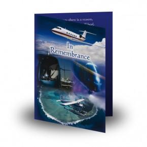 Aviation Folded Memorial Card