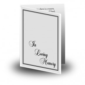 Black and white border No 1 Folded Memorial Card