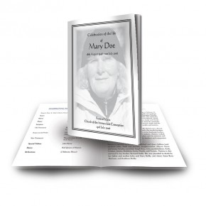 Black and white border No 2 Funeral Book