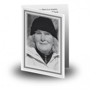 Black and white border No 2 Folded Memorial Card