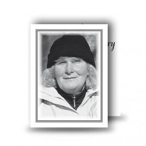 Black and white border No 2 Standard Memorial Card