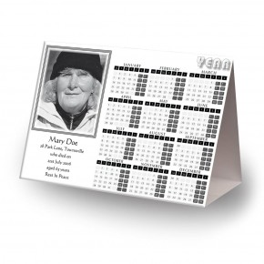 Black and white border No 2 Calendar Tent