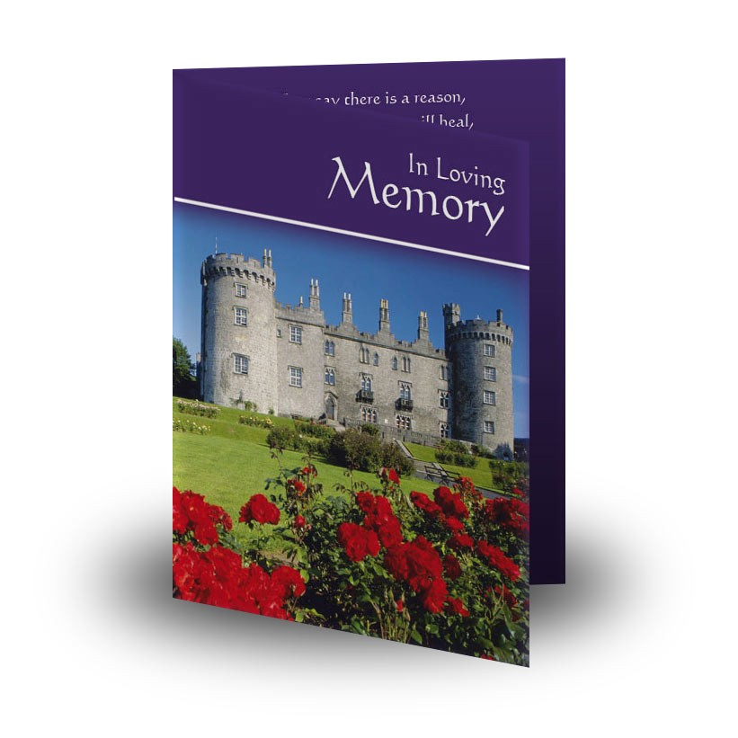 Kilkenny castle folded memorial card memf 0227 kilkenny castle folded memorial card reheart Images