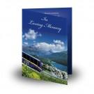 Tyrolean HighlandsFolded Memorial Card