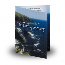 Coastline Co Antrim Folded Memorial Card