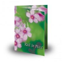 Pink Primroses Folded Memorial Card