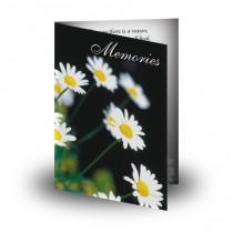 Daisies Folded Memorial Card