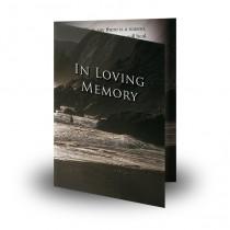 Seashore Co Down Folded Memorial Card