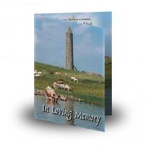 Devenish Island (Inside) Co Fermanagh Folded Memorial Card