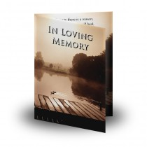 Misty Scene Folded Memorial Card