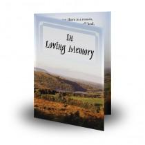 West Midlands England Folded Memorial Card