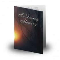 Sun Trees Folded Memorial Card