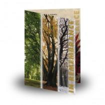 Tree Seasons Folded Memorial Card