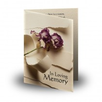 A Softer Paper Folded Memorial Card