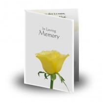 Summer Rose Blossom Folded Memorial Card