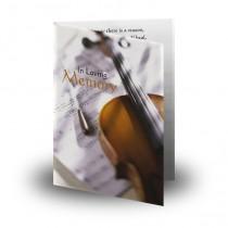Musicians Memories Folded Memorial Card