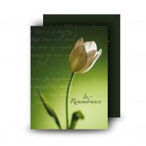 Serenity Standard Memorial Card